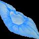 Бахилы п/эт 4.0 гр. (30 микрон), пов-ть антискользящая, голубые, упакованы в общ. упак. (25 пар) / ЦЕНА ЗА ПАРУ (Россия)